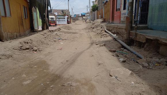 Obras paralizadas afectan a familias del Alto de Comatrana en Ica