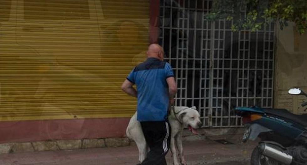 Fotógrafo capta a perro siendo arrastrado por moto de su dueño (FOTOS)