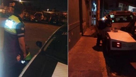 Captan a policías teniendo relaciones sexuales en la calle (VIDEO)