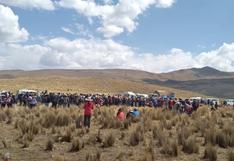 Cusco: Comuneros construyen casas en pleno Corredor Minero a manera de protesta (FOTOS)
