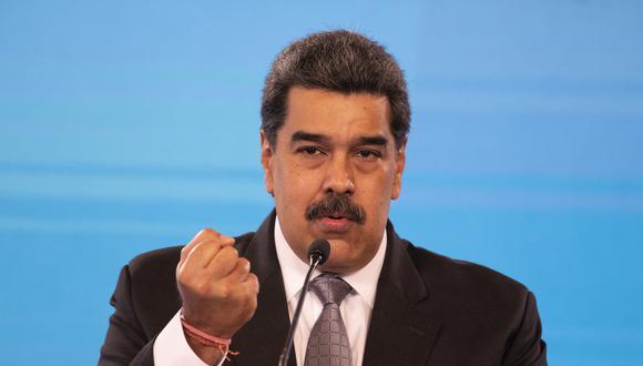 Imagen del presidente de Venezuela, Nicolás Maduro. (Yuri CORTEZ / AFP).