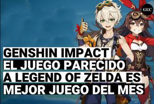 Genshi impact,  es nombrado como mejor juego del mes de Ps4