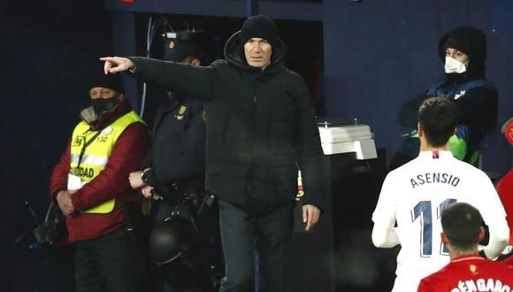 Zinedine Zidane mostró su enfado con autoridades de LaLiga (Foto: EFE)