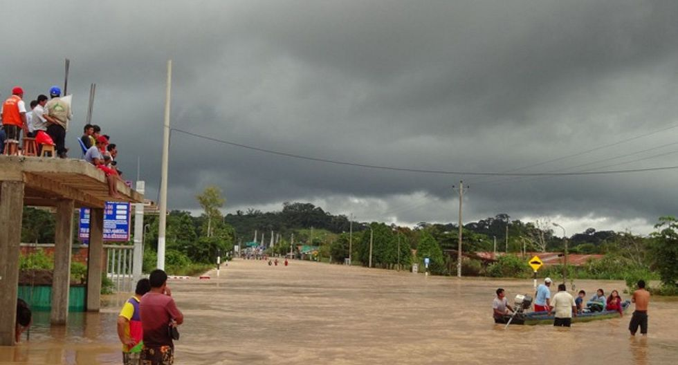 Puerto Maldonado: Lluvias torrenciales dejan incomunicadas a cinco comunidades