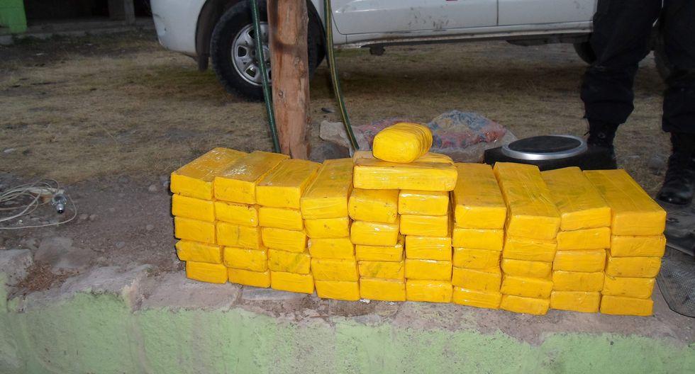 Vraem: Decomisan más de 100 kilos de droga y detienen a chofer