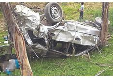 Tres jóvenes mueren en despiste de un automóvil en Áncash