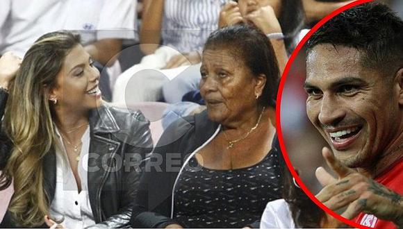 Alondra García Miró y Doña Peta juntas en el Estadio Nacional para alentar a Paolo Guerrero (FOTOS)