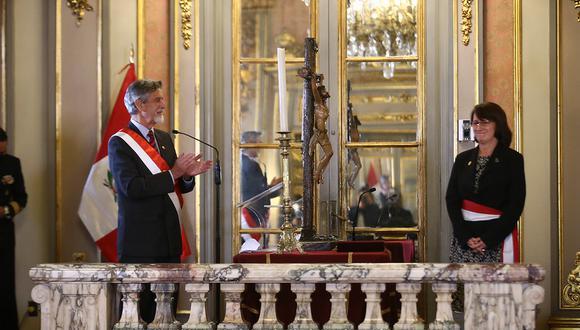 Mazzetti fue jefa del Comando de Operaciones Covid-19. Hoy juró en el cargo de titular del Minsa, una vez más. (Fotos: Presidencia Perú)