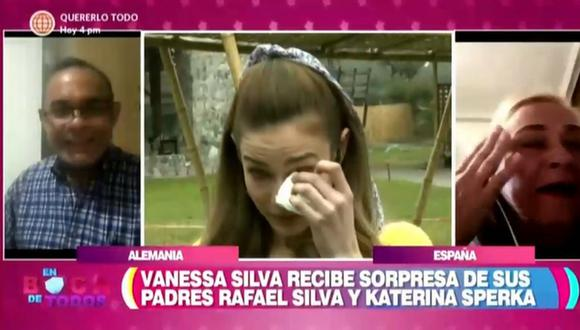 """""""Luz de Luna"""": Vanessa Silva, protagonista de la novela, llora tras sorpresa en """"En Boca de Todos"""". (Foto: Captura)"""