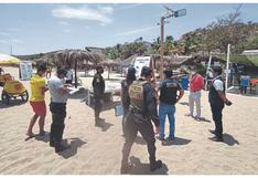 Tumbes: Más de 40 bañistas fueron multados en la playa por Semana Santa