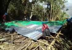 Demuelen construcciones clandestinas en el Parque Arqueológico de Choquequirao