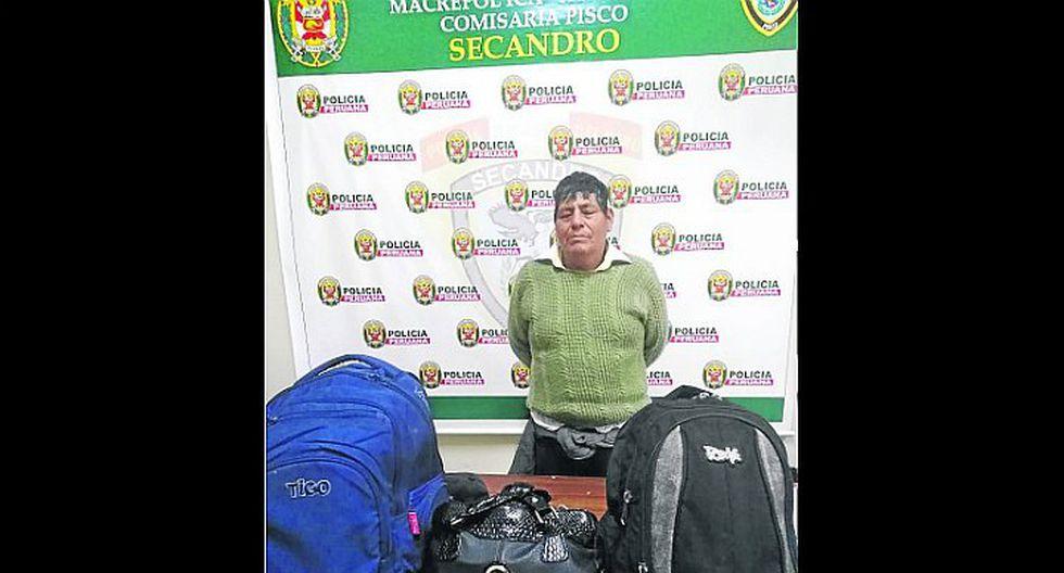 Intervienen a pasajero con 12 kilos de clorhidrato de cocaína