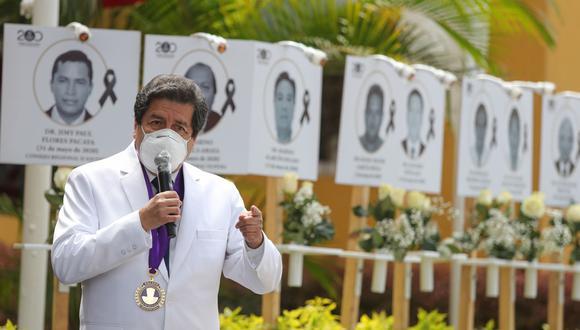 Gremio reiteró que ninguno de los miembros del Consejo Nacional se ha vacunado, con excepción del vicedecano del Colegio Médico del Perú, Ciro Maguiña.