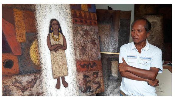 El arte de luto: Fallece reconocido pintor Demetrio Saldaña