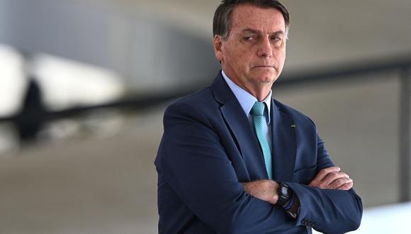 """Bolsonaro aseguró, sin pruebas, que para los comicios se está cocinando un """"fraude"""", orquestado supuestamente por el Tribunal Superior Electoral para supuestamente beneficiar a Lula. (Foto: EVARISTO SA / AFP)"""