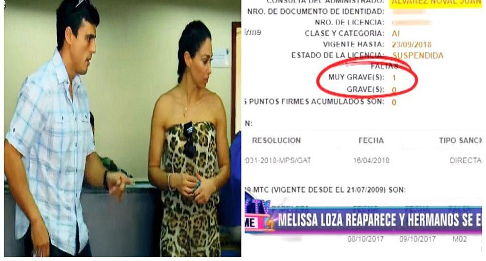 Melissa Loza: su novio fue captado manejando auto pese a tener la licencia suspendida (VIDEO)