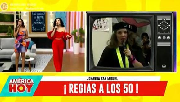 Janet Barboza aseguró que Johanna San Miguel es mayor que ella. (Foto: captura de video)