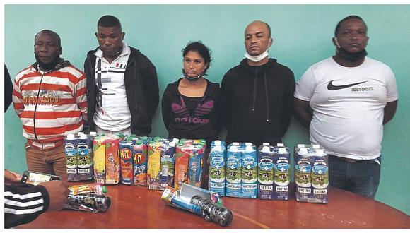 Tumbes: Caen 5 extranjeros con marihuana escondida en jugos