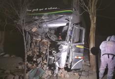 Ica: Choque entre un bus y una camioneta dejó dos muertos en Nasca