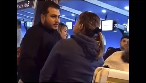 Mujer descubre a su esposo con amante y la agarra de los pelos (VIDEO)