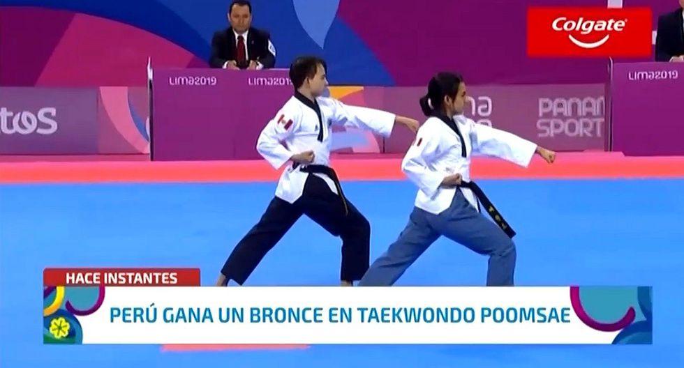 Lima 2019: Perú gana medalla de bronce en parejas de Taekwondo (VIDEO)