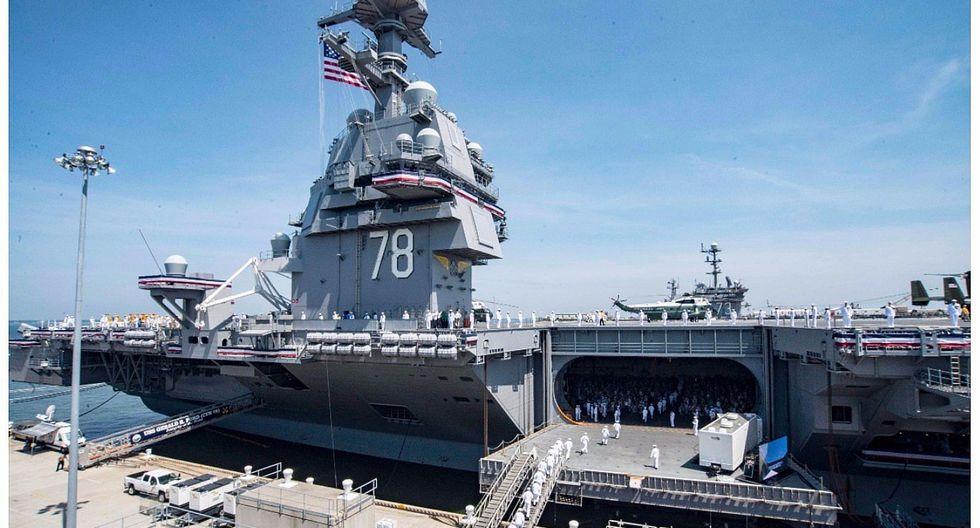 "Donald Trump al inaugurar portaaviones: ""El poder militar estadounidense es insuperable"" (VIDEO)"