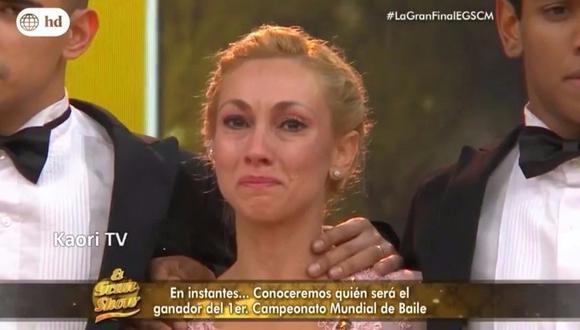 El Gran Show: Belén Estevez lloró en la gran final y conmueve por esta razón (VIDEO)