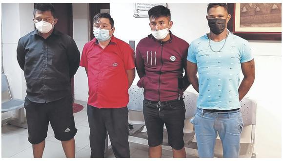 Fueron detenidos cuando escapaban en un auto luego de amenazar a un conductor. Uno de ellos es un venezolano.