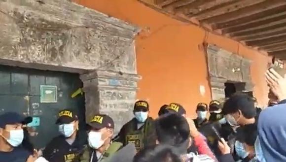 Estudiantes sufrieron altercado con efectivos de la PNP durante manifestación