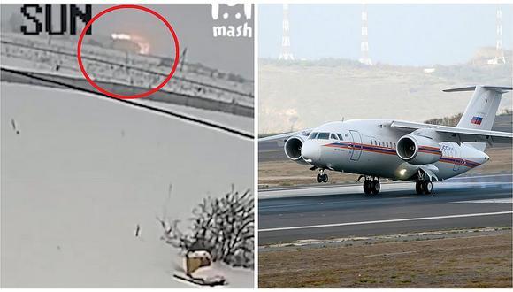 El preciso momento en que avión ruso con 71 personas se estrella en Moscú (VIDEO)