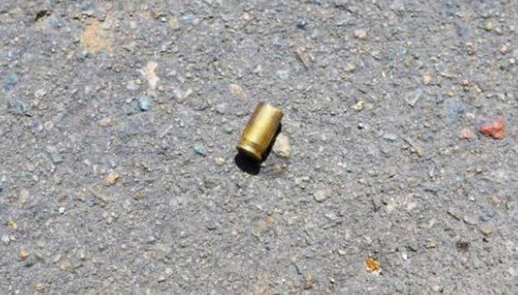 Delincuentes dejaron también casquillos de  balas para intimidar