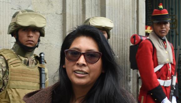 Eva Copa, expresidenta del Senado de Bolivia y alcaldesa electa de El Alto (Foto: AIZAR RALDES / AFP).