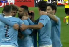 Riyad Mahrez logra anotar el empate 1-1 en Manchester City vs. Borussia Dortmund (VIDEO)