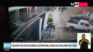 Delincuentes disfrazados de policías roban 4 millones de dólares en oro