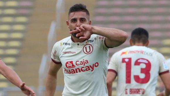 Luis Urruti tiene dos goles en la temporada 2021 con Universitario. (Foto: Liga de Fútbol Profesional)