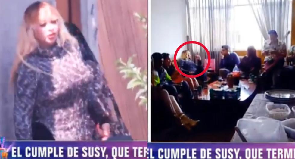 Susy Díaz celebra cumpleaños anticipadamente con más de 13 personas, sin mascarilla y sin distanciamiento social