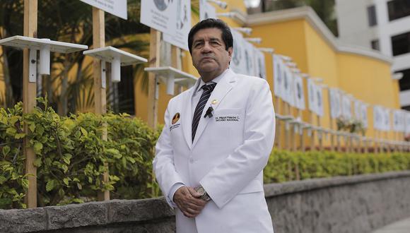 Miguel Palacios, decano del Colegio Médico del Perú. (Anthony Niño de Guzmán / @photo.gec)