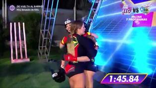 Esto Es Guerra: Melissa Loza celebró triunfo de su hermana Tepha Loza con emotivo abrazo (VIDEO)