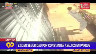 Roban las bancas de un parque ubicado en Santa Anita: vecinos exigen seguridad (VIDEO)