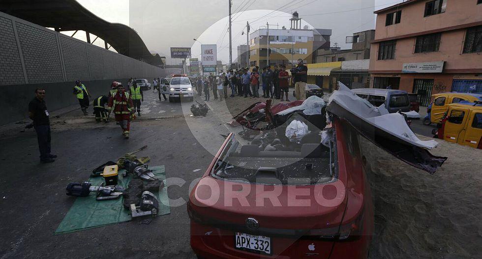 Hombre fallece en brutal accidente en San Juan de Miraflores (VIDEO)