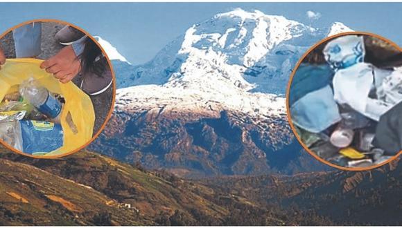 Guías de montaña hallan bolsas de basura en el Vallunarraju y dicen que militares habrían contaminado.