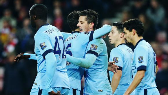 Manchester City goleó 4-1 al Sunderland por la Premier League