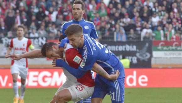 Schalke empató 0-0 con Augsburgo y se complica con la Champions League