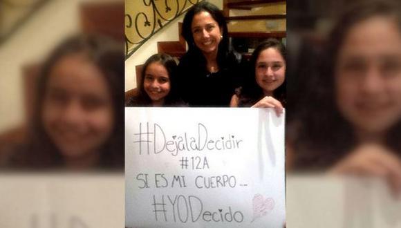 Facebook: Esta foto demuestra que Nadine Heredia está favor de la despenalización del aborto
