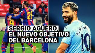 Sergio Agüero, el nuevo objetivo del Barcelona de 'Leo' Messi