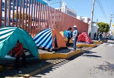 Dirigentes del Sindicato de Trabajadores Contratados del GRA realizan huelga de hambre