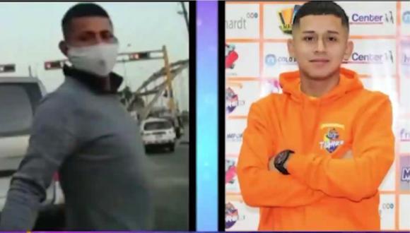 El sujeto que robó el celular a una mujer en San Martín de Porres y el acusado del hecho. | Foto: Latina.