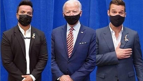 Ricky Martin y Luis Fonsi respaldan al candidato Joe Biden. (Foto: @luisfonsi/@ricky_martin)