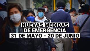 Cuarentena: Estas son las nuevas medidas que se regirán desde 31 de mayo al 20 de junio