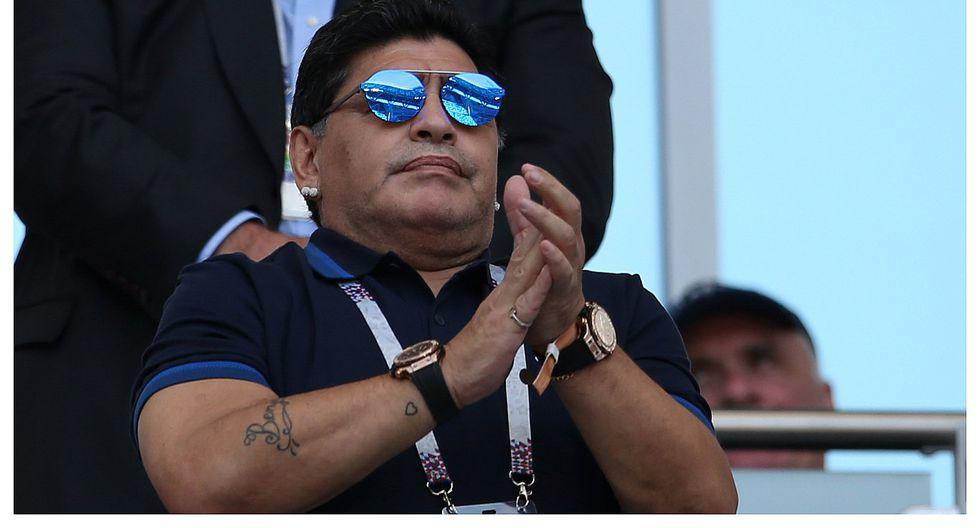 Diego Maradona molesto por no ser considerado como candidato para dirigir a la Argentina